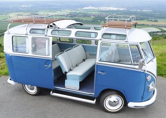 Furgoneta Volkswagen hippie de ocasion